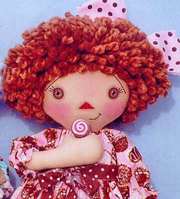 Видео волосы для куклы из пряжи мастер класс