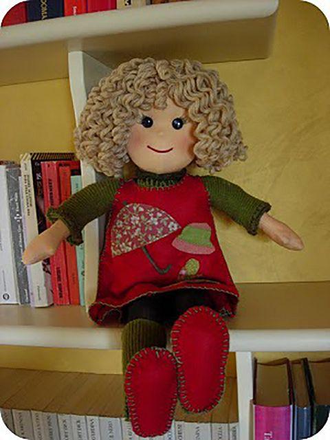 Как сделать волосы тряпичной кукле фото 974