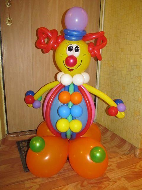 Воздушные клоун своими руками