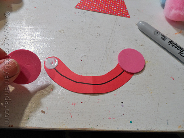 Голова клоуна из бумажной тарелки-2