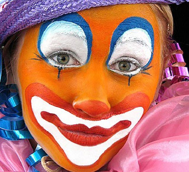 Грим для клоуна