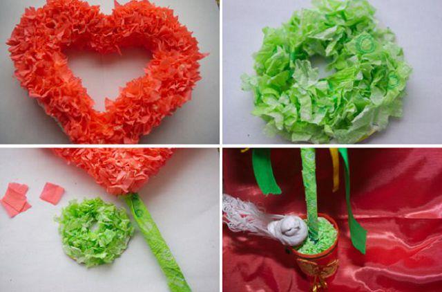 idei-podelok-gofri-12 Цветы из гофрированной бумаги своими руками