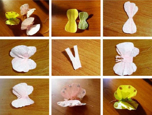 Декоративные бабочки своими руками