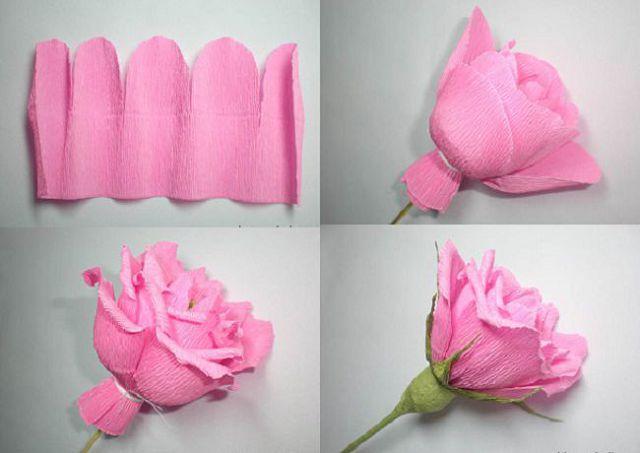 Цветок из салфеток своими руками поэтапно фото 33