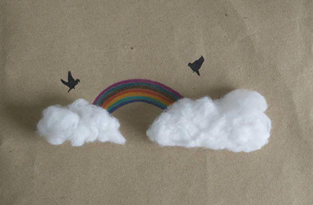 Как сделать облачко из ваты