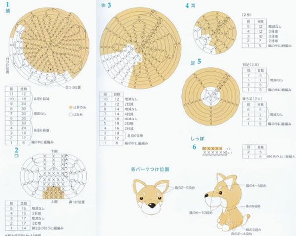 Схемы вязание игрушек амигуруми крючком