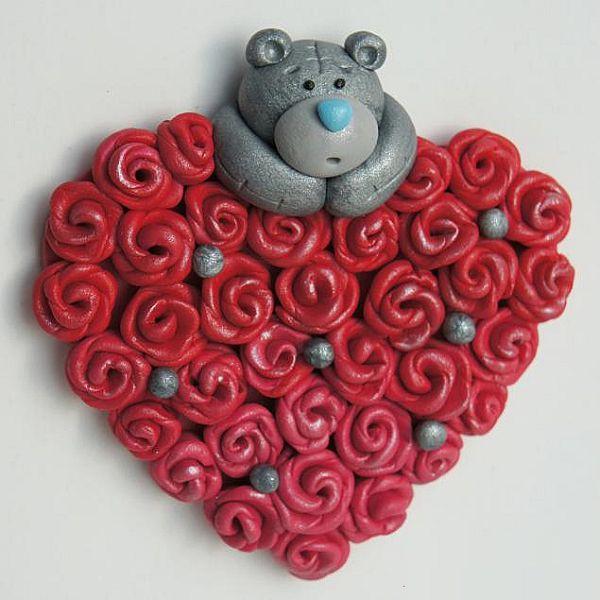 валентинка из глины