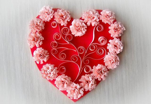 Валентинка в виде украшения