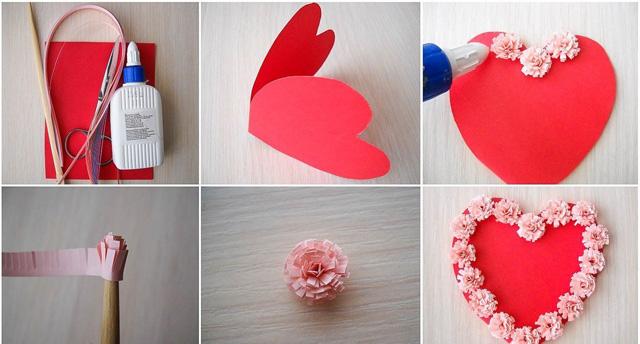 валентинка гармошка