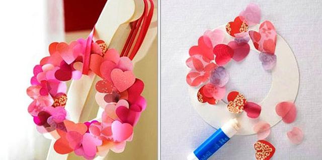 Венок из валентинок