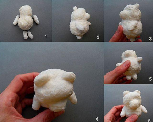 Ёлочная игрушка сделать из ватных дисков