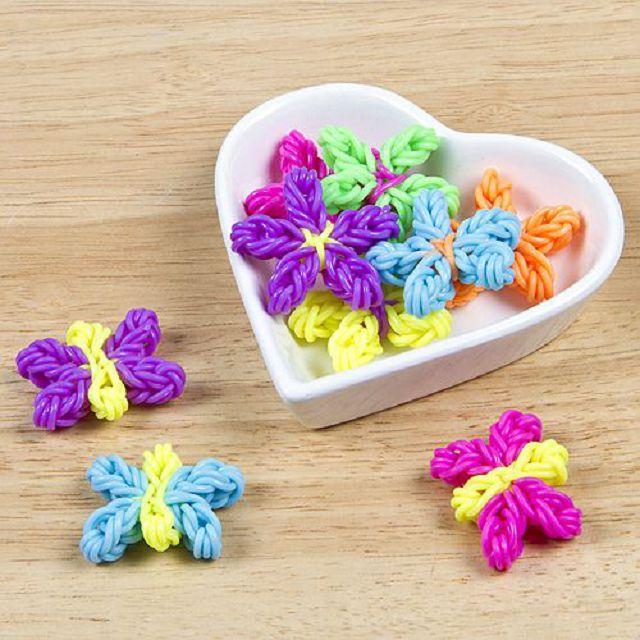 картинки цветы из резиночек