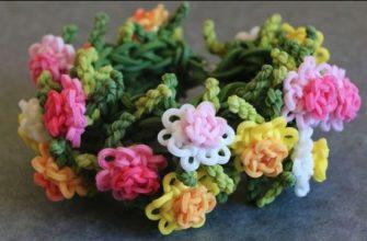 Цветы из резинок