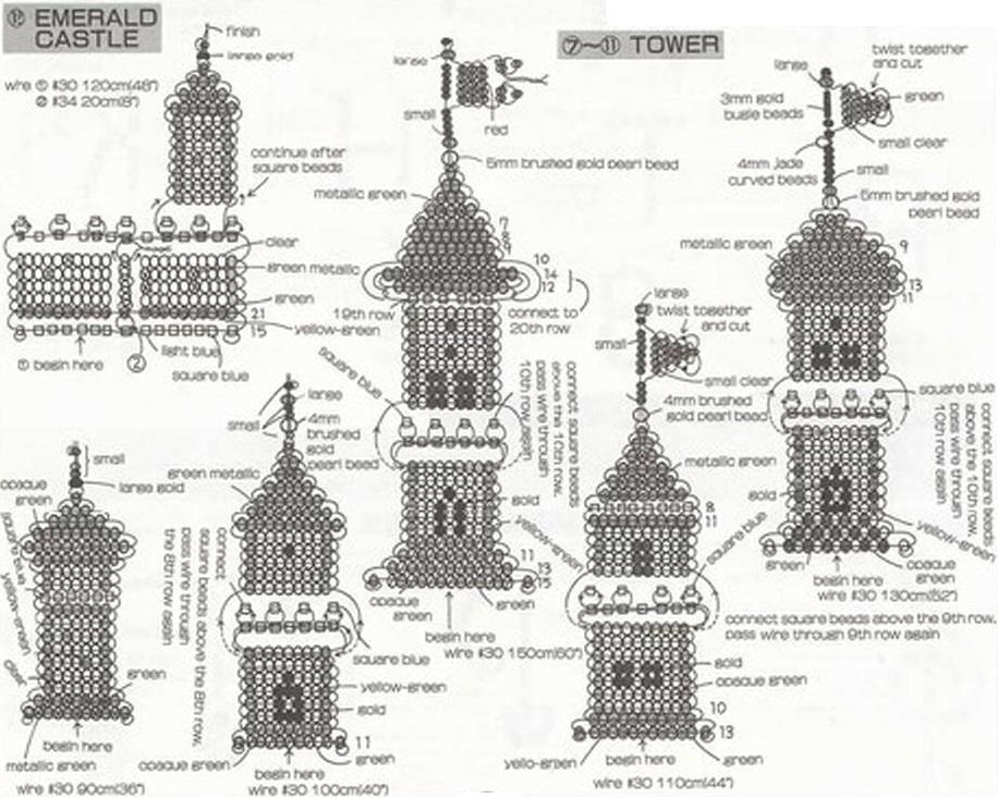 Схемы домиков из бисера