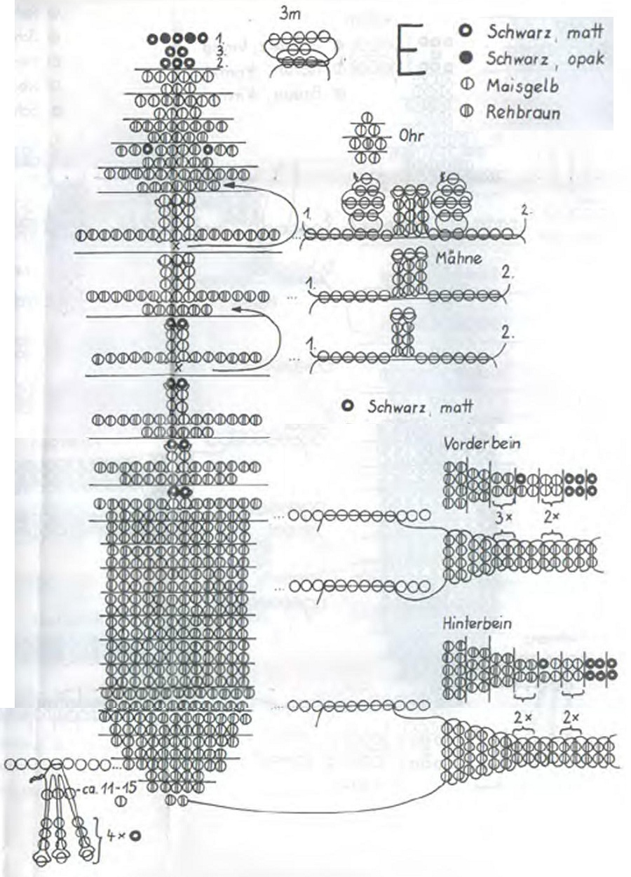 Схема плетения лошадь