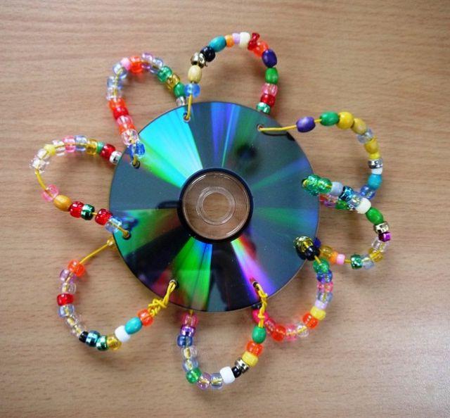 Поделки с детьми из компакт дисков