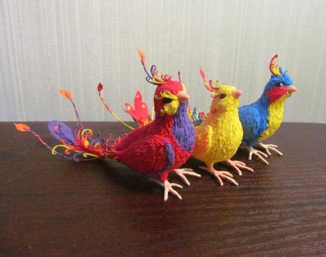 Объёмные птицы своими руками фото 11