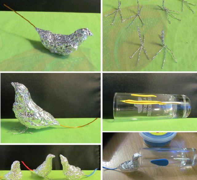Птицы из разных материалов