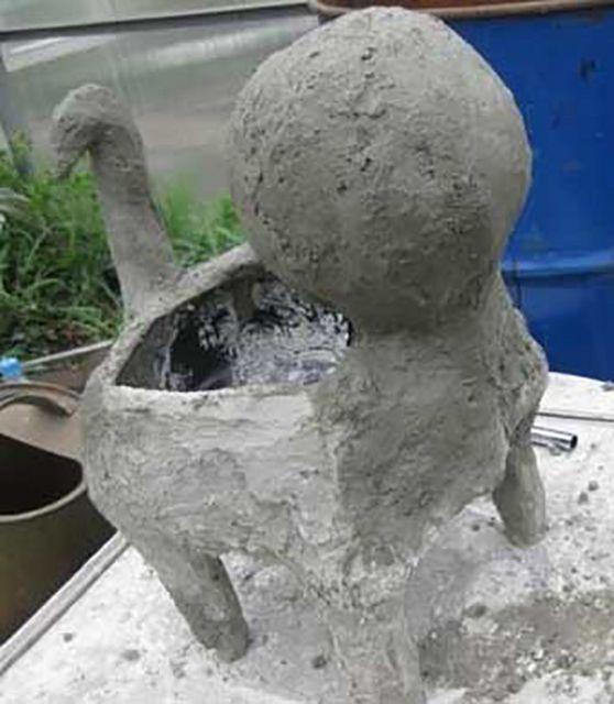 67Как сделать садовую фигуру  мастер класс