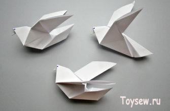 простой голубь оригами