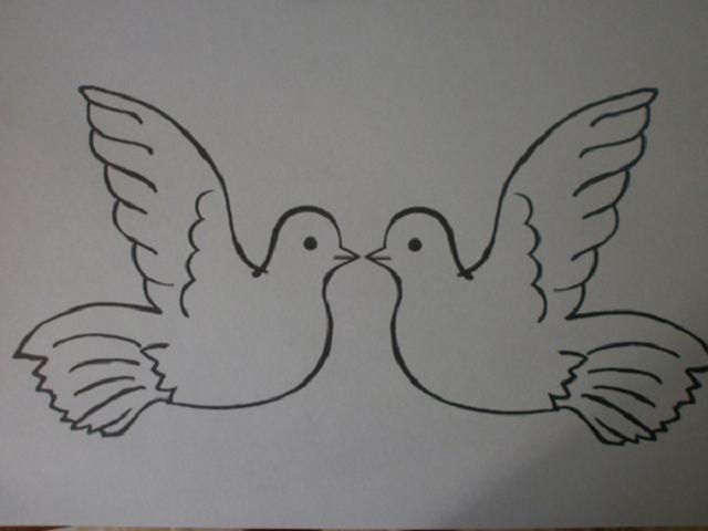 Словами, голубь мира открытка из бумаги