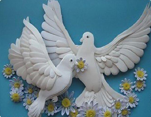 Поделка голубь