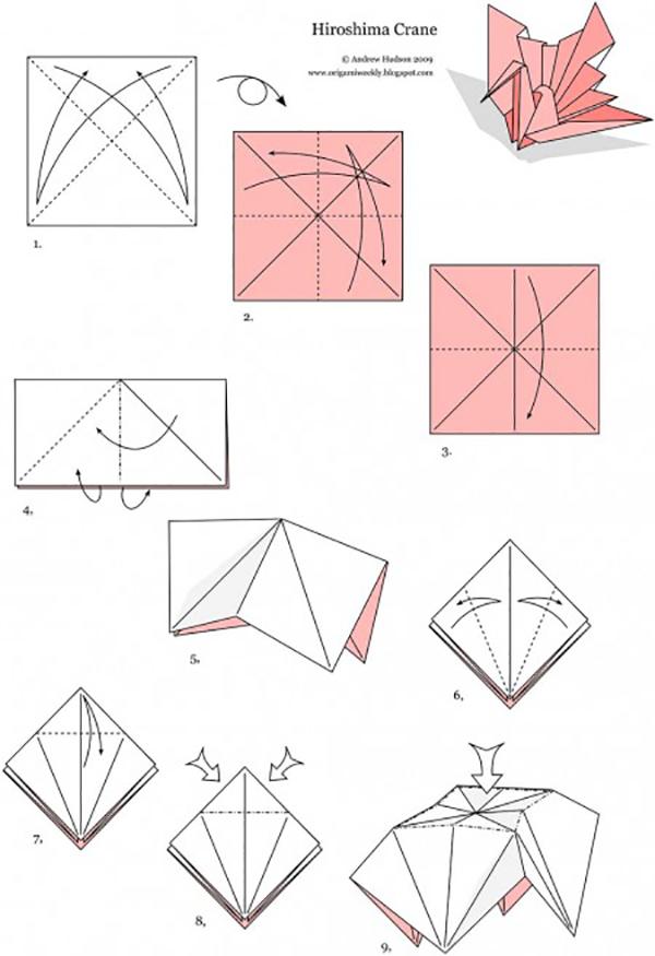 оригами пошаговое фото своими руками журавлик этой статье