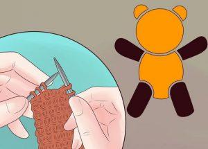 Вязанный мишка