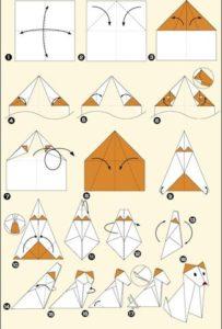 схемы для создания собак из бумаги