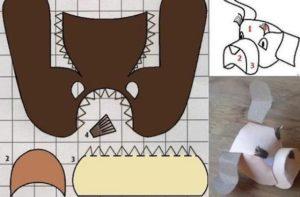 маска собаки из бумаги своими руками