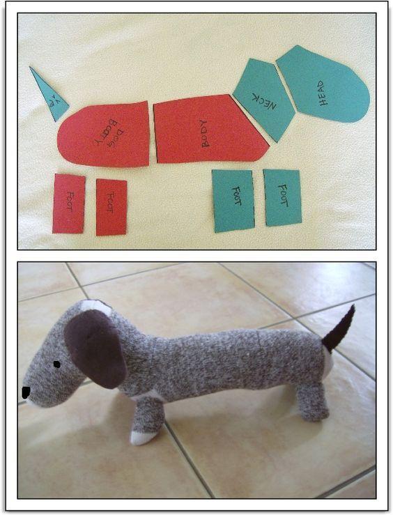 детали собаки из носка