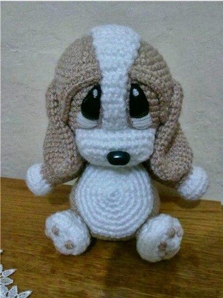 Собачка вязанная крючком