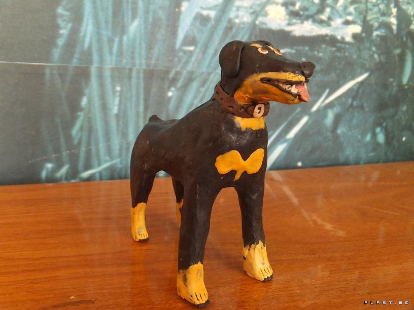 собака из пластилина своими руками