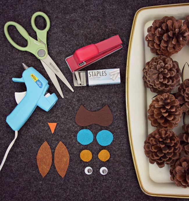 1-3 Поделки из шишек на тему осень. Совы, ежик и многое другое
