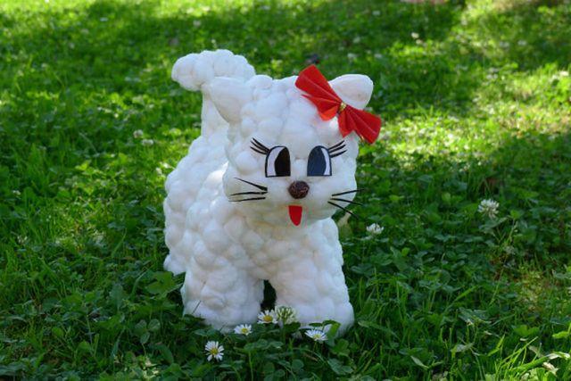 Кошка из ваты