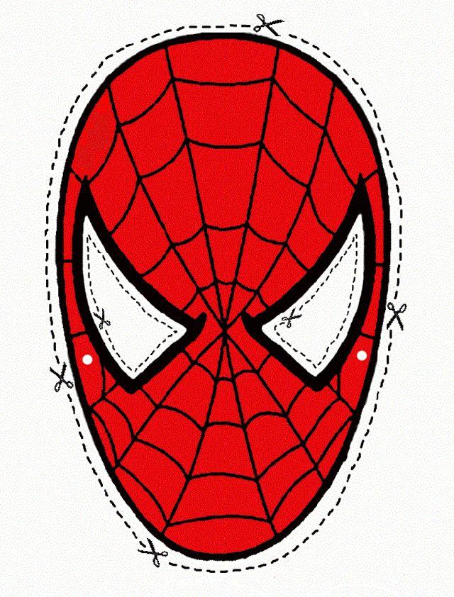 Маска Человека паука своими руками: из ткани, из бумаги
