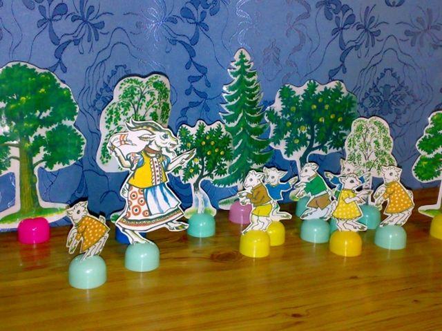 Бумажные куклы для сказки Волк и семеро козлят