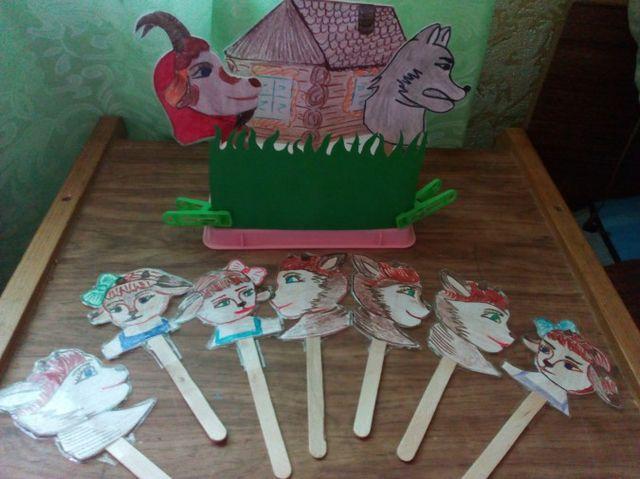 Куклы на палочках для театра