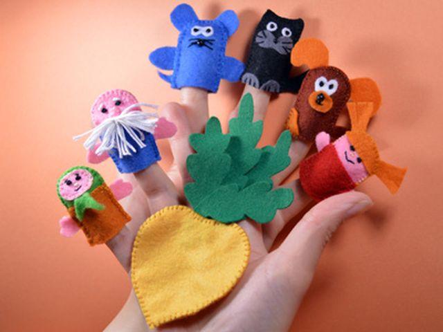 Пальчиковые куклы для сказки репки