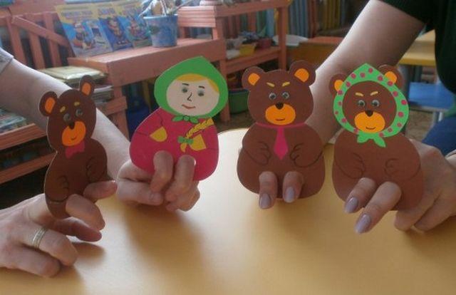 Куклы для сказки Три медведя из бумаги шаг 2