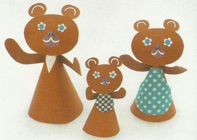 Куклы для сказки Три медведя из бумаги шаг 3