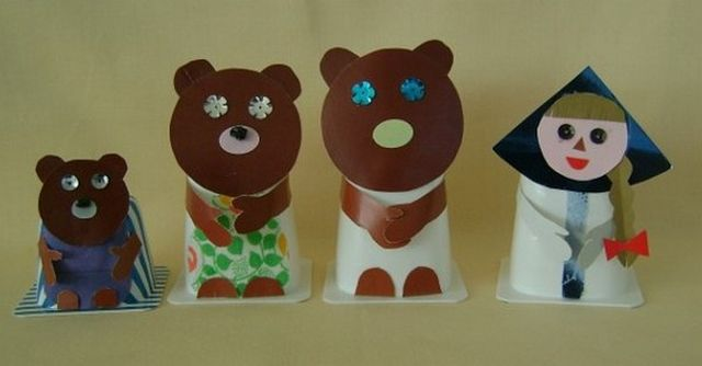 Куклы для сказки Три медведя из бумаги шаг 4