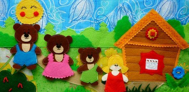 Куклы для сказки Три медведя из фетра шаг 2