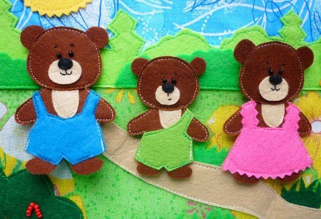 Куклы для сказки Три медведя из фетра шаг 3