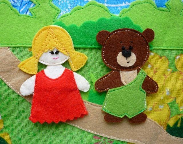 Куклы для сказки Три медведя из фетра шаг 4