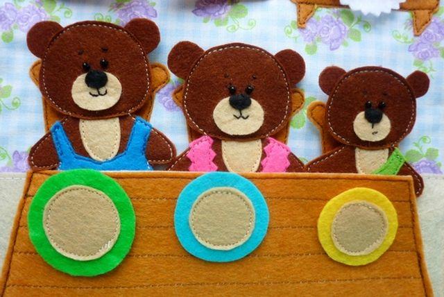 Три медведя из фетра выкройка фото 574