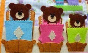 Куклы для сказки Три медведя из фетра шаг 6
