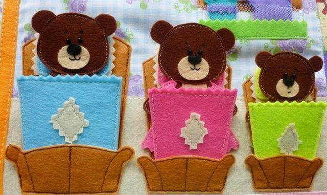 Три медведя из фетра выкройка фото 736