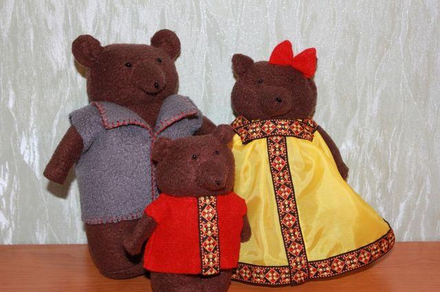 Куклы для сказки Три медведя из флиса шаг 2