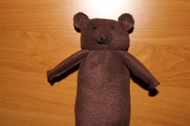 Куклы для сказки Три медведя из флиса шаг 5